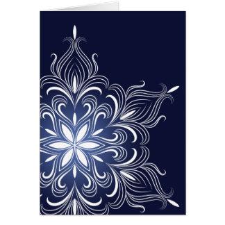 Cartão do floco de neve do inverno