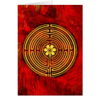 Cartão do fogo do labirinto de Chartres