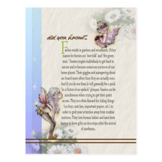 Cartão do folclore do país das fadas