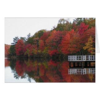 Cartão do folhagem de outono