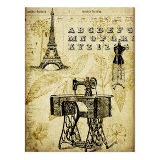 Cartão do formulário do vestido da torre Eiffel de Cartão Postal