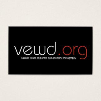 Cartão do fotógrafo de VewdMedia