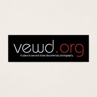 Cartão do fotógrafo dos meios de Vewd - magro
