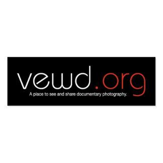 Cartão do fotógrafo dos meios de Vewd - magro Cartoes De Visitas