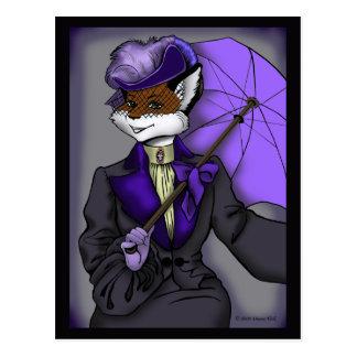 Cartão do Fox do Victorian