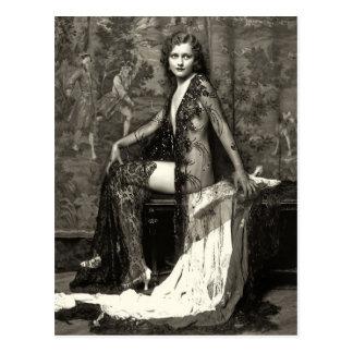 Cartão do francês da menina de Ziegfeld