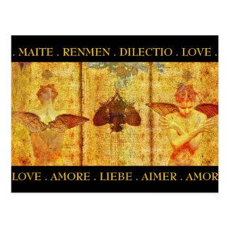 Cartão do fresco de Amore