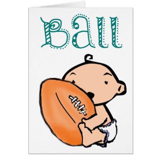 Cartão do futebol de Luv do bebê