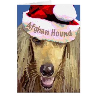 Cartão do galgo afegão do Natal