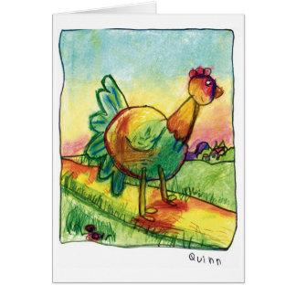 Cartão do galo