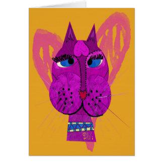 Cartão do gatinho da diva