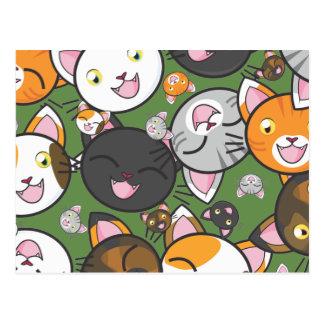 Cartão do gatinho de Kawaii (escolha a cor)