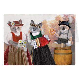 Cartão do gatinho de Oktoberfest