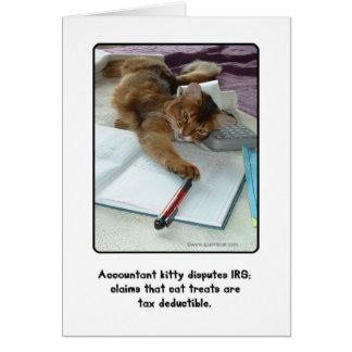 Cartão do gatinho do contador