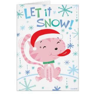 Cartão do gatinho do Natal
