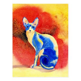 Cartão do gato #1 de Sphynx