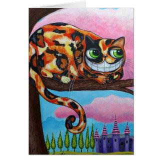 Cartão do gato de Cheshire