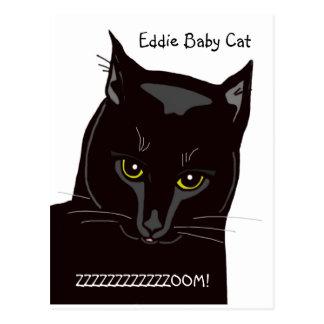 Cartão do gato do bebê de Eddie