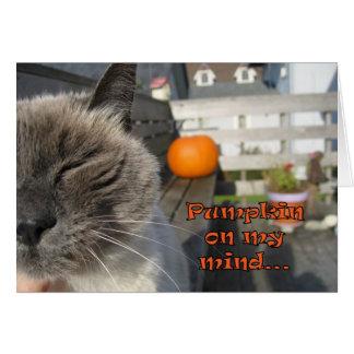 Cartão do gato do Dia das Bruxas