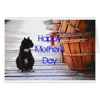 Cartão do gato do dia das mães