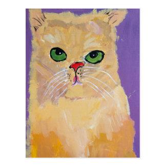 Cartão do gato do gengibre