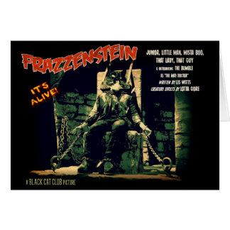Cartão do gato do monstro de Frazzenstein