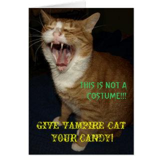 Cartão do gato do vampiro