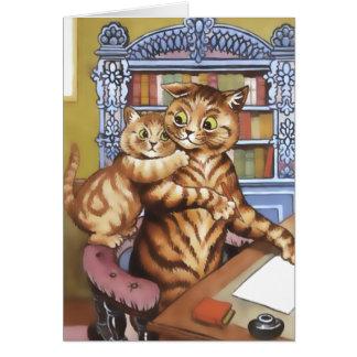 Cartão do gato do vintage