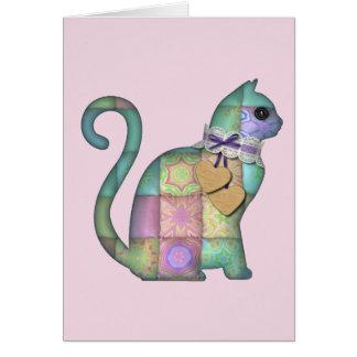 cartão do gato dos retalhos