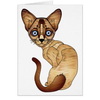 Cartão do gato Siamese