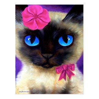 Cartão do gato Siamese - 155 que encantam
