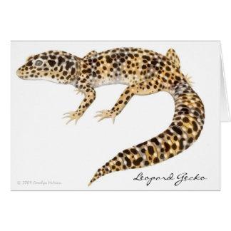 Cartão do geco do leopardo