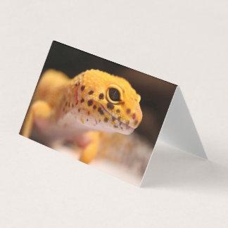 Cartão do geco do leopardo do mandarino