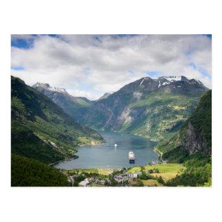 Cartão do Geirangerfjord