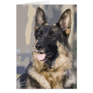 Cartão do german shepherd