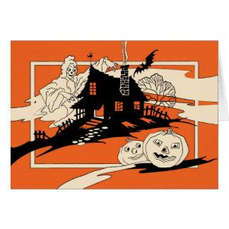Cartão do Ghoul do Dia das Bruxas