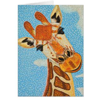 Cartão do girafa