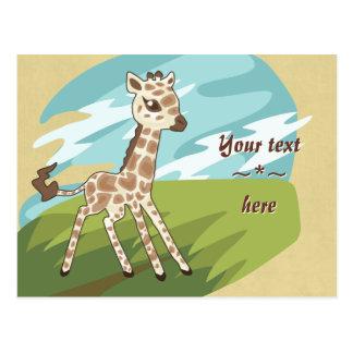 Cartão do girafa de Cutie
