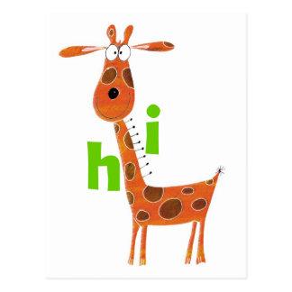 Cartão do girafa do divertimento cartão postal