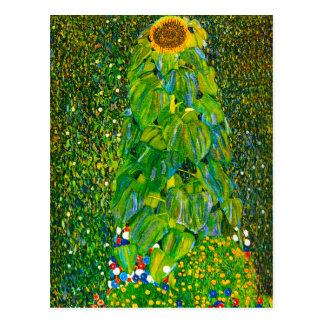 Cartão do girassol de Gustavo Klimt