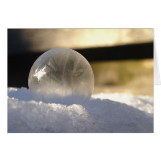 Cartão do globo do gelo