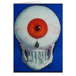 Cartão do globo ocular do crânio