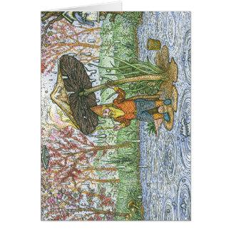 Cartão do gnomo da chuva
