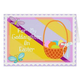 Cartão do Goddaughter do felz pascoa