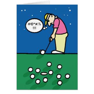 Cartão do golfe