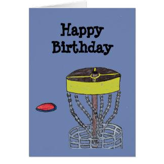 Cartão do golfe do disco do feliz aniversario