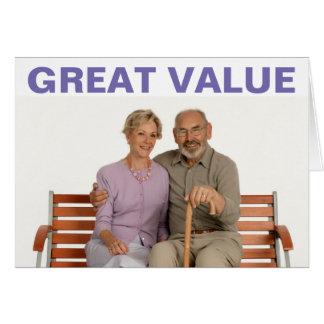 Cartão do grande valor