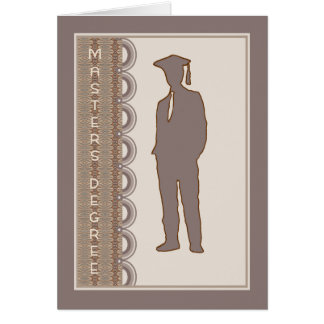 Cartão do grau de mestrado para o filho, ou