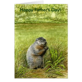 Cartão do groundhog do dia dos pais