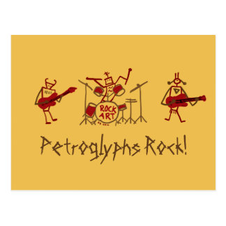 Cartão do grupo de rock dos Petroglyphs